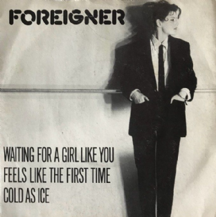 "Foreigner ‎- Waiting For A Girl Like You (7"") (VG/G-VG)"